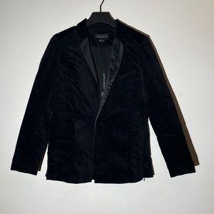 NWT Black velvet blazer suit jacket small